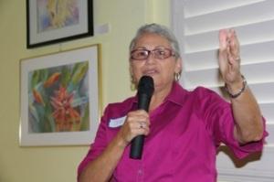 Club President, Jen Campbell, kicks off the meeting.