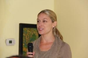 Communications Chair, Sarah Boot, addresses club