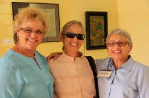SDCDP Chair, Francine Busby; Executive Director of the Alliance for Nuclear Responsibility, Rochelle Becker, and Clairemont Democratic Club President, Jen Campbell