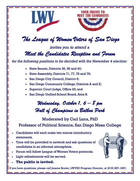 Candidate Forum Flyer 2014 rev 9-4-2014a