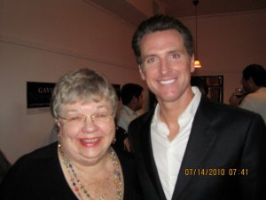 Suzie Ditmars with Gavin Newsom
